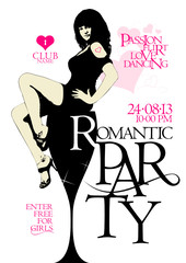 Romantic party design template