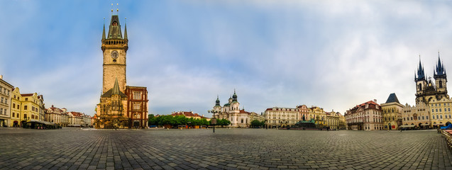 Panoramic view of Old Town Square,Praha