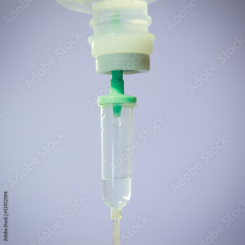 drop of saline solution