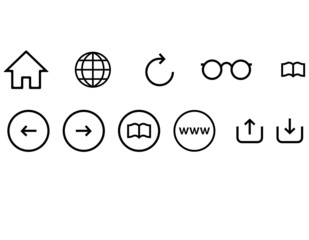 Minimaslist Web Browser Icon Set