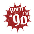 Born in the 90's stamp
