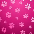Seamless paw pet pattern