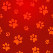 Dog footprints pattern