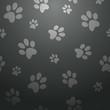 Black dog footprints pattern