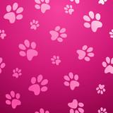 Seamless paw pet pattern
