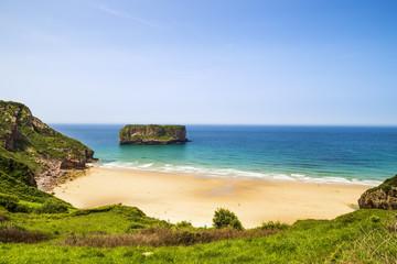 Andrin beach in Llanes, Asturias, Spain