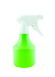 Green plastic sprayer isolated on white background