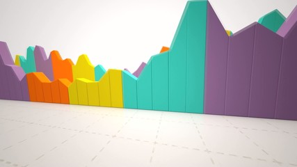 Animated statistics for business reports and presentations