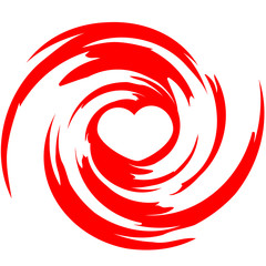 Heart Swirl Design