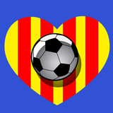 ball with heart of catalonia
