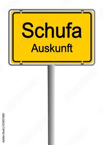 Ortsschild Schufa