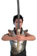Krieger mit Schwert frontal