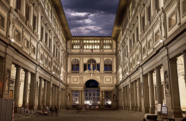 Uffizi Gallery. Night Shot