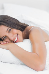 Portrait of a cheerful woman relaxing