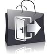 Einkaufstasche Schwarz-Silber-Serie: Selbstabholung