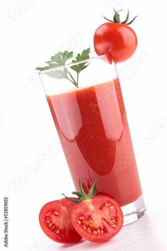 isolated tomato juice