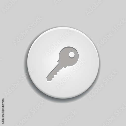 Key icon on white button