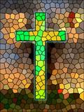 Faith symbol. Cross. poster