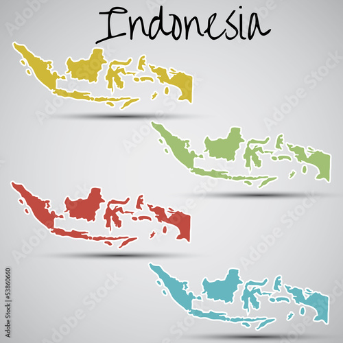 stickers in form of Indonesia