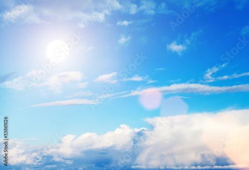 sun high in sky