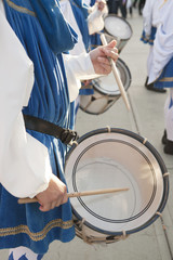 Playing the drum in the parade