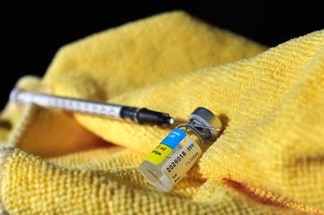 préparation du kit d'injection