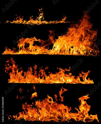 In de dag Vuur / Vlam high resolution fire collection