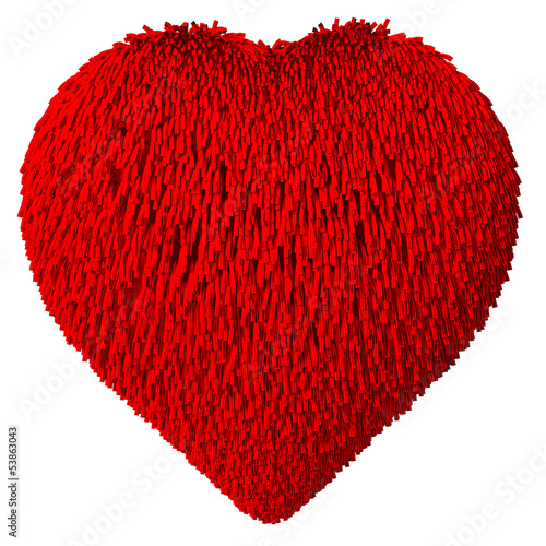 Heart Shape covered with fur