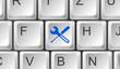 Tastatur Taste blau Werkzeug