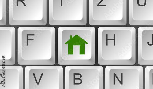 Tastatur Haus grün