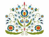Polski wzór z dekoracyjnymi kwiatami