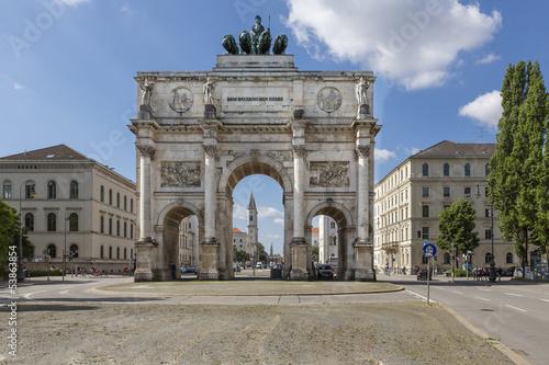 Leinwandbild Motiv Das Siegestor in München