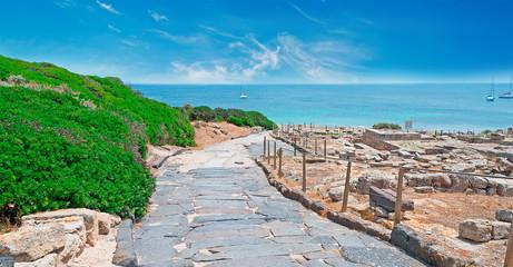 sea and ruins