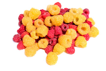 A handful of raspberries