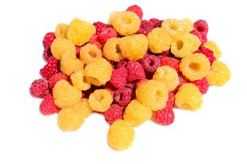 A handful of raspberries