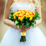 yellow bride's bouquet