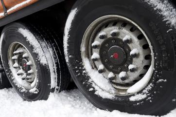 trailer in snow