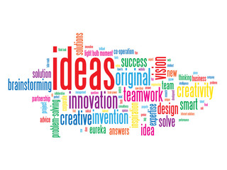 """IDEAS"" Tag Cloud (innovation solutions problem solving smart)"