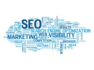 """SEO"" Tag Cloud (search engine optimization traffic visibility)"