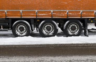 trailer in snow