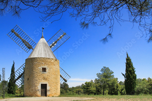windmill in  Venejan, south of France