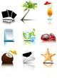 набор летних векторных иконок