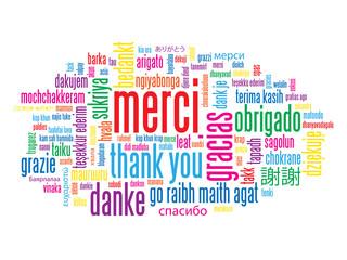 "Carte ""MERCI"" (thank you gracias message remerciements)"