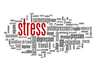 """Nuage de Tags """"STRESS"""" (anxiété dépression surmenage suicide)"""