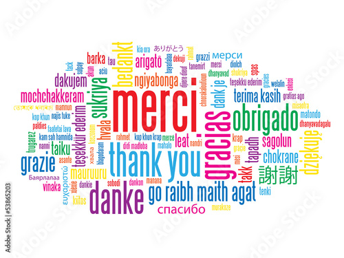 "Carte ""MERCI"" (thank you gracias message remerciements)"