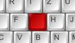 Tastatur rote Taste