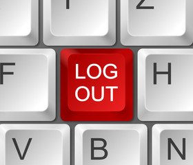 Tastatur Log out