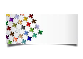 Kartenvorlage mit Kreuze