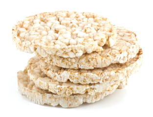 Corn crackers isolated on white background