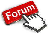 Forum button and hand cursor